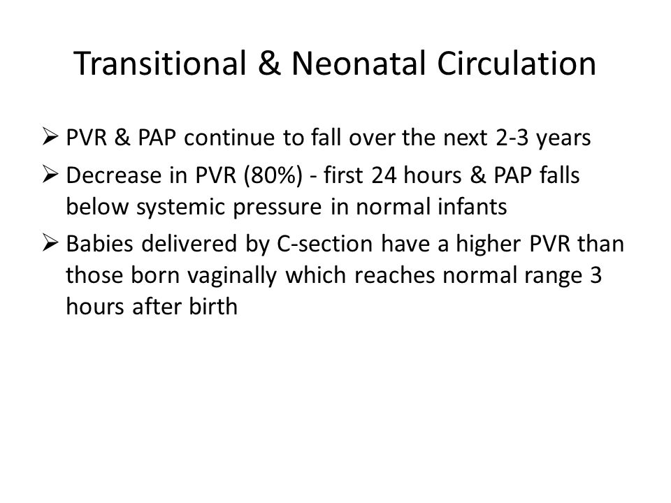 Transitional & Neonatal Circulation