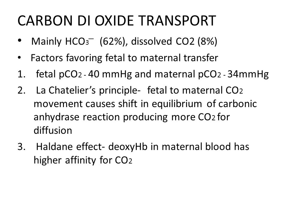 CARBON DI OXIDE TRANSPORT