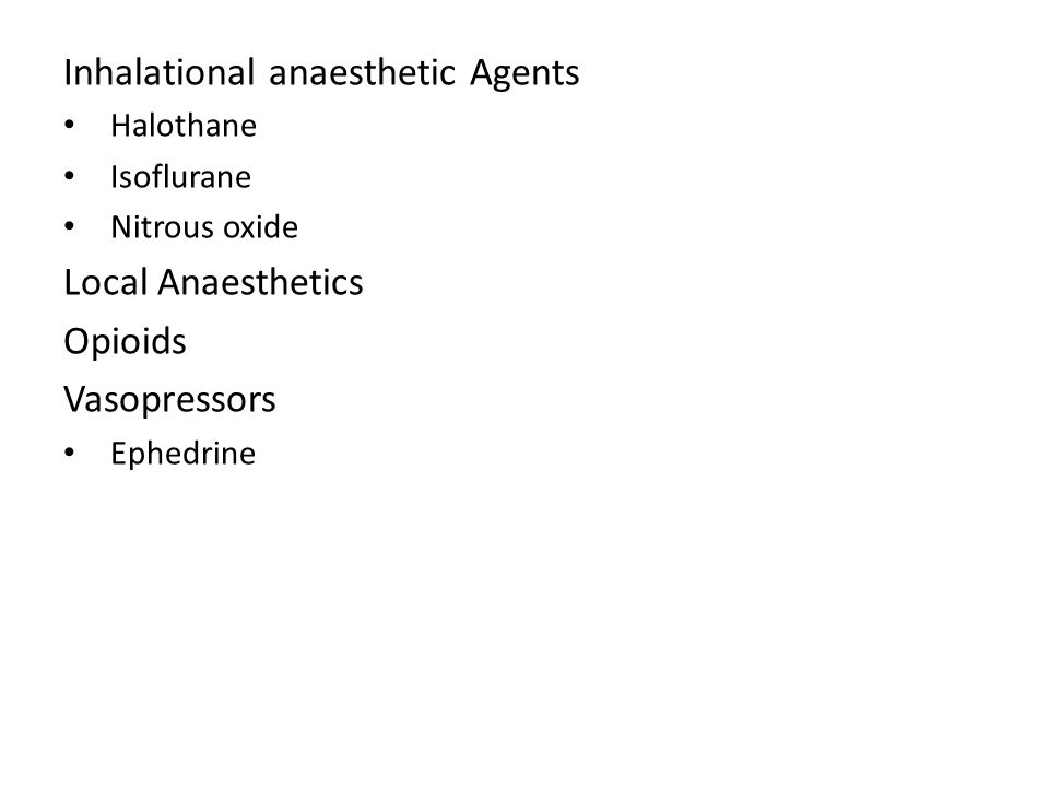 Inhalational anaesthetic Agents