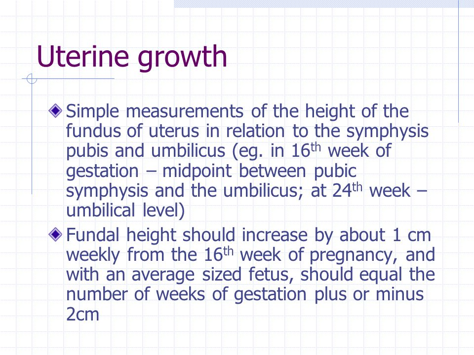 Uterine growth