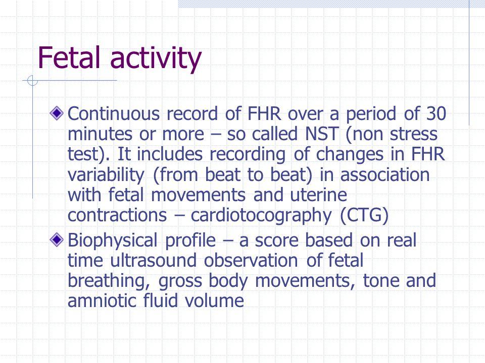 Fetal activity