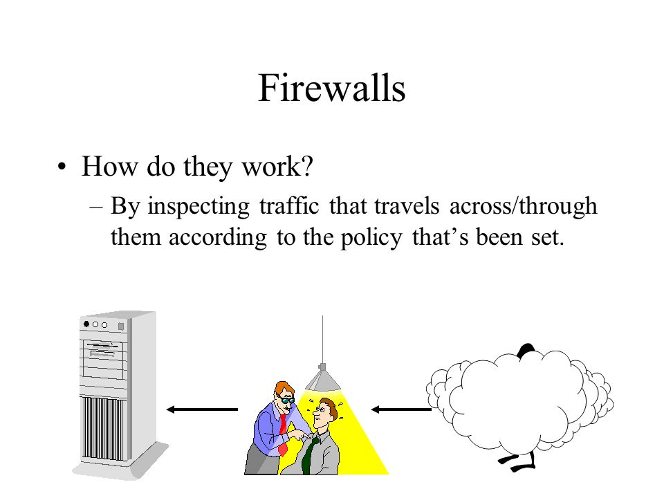 Firewalls How do they work