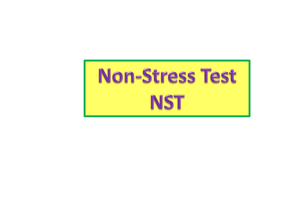 Non-Stress Test NST