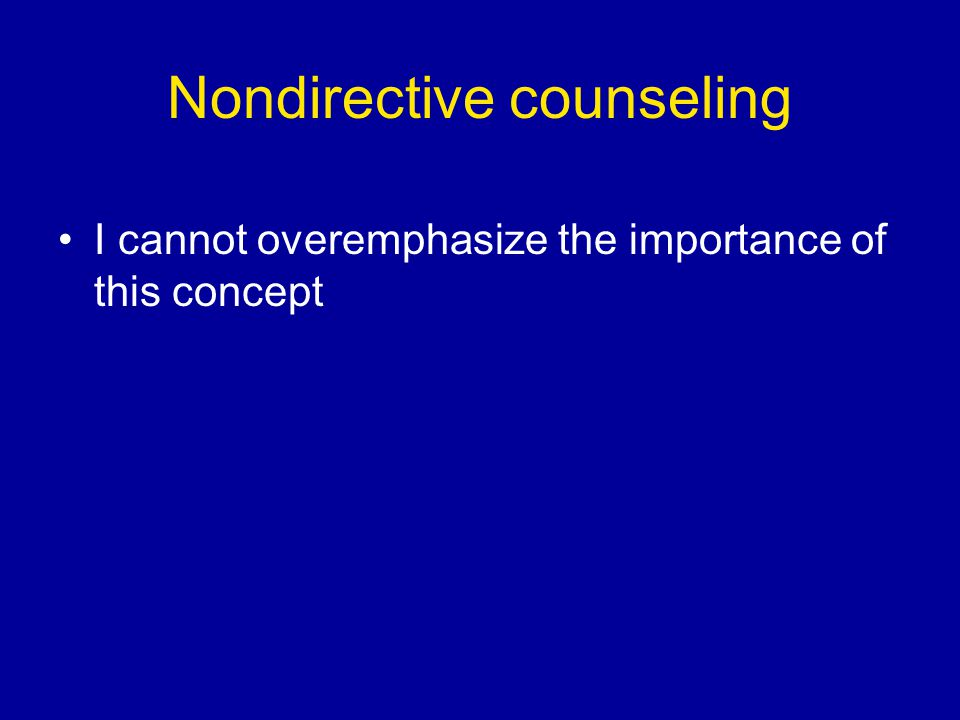 Nondirective counseling