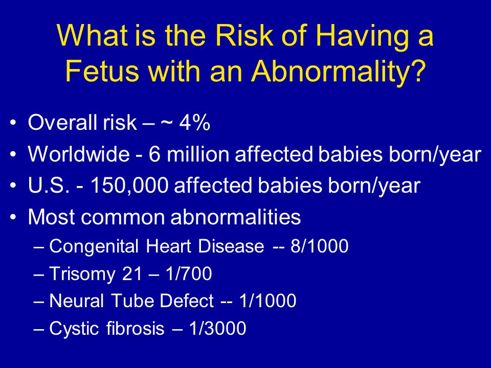 What is the Risk of Having a Fetus with an Abnormality