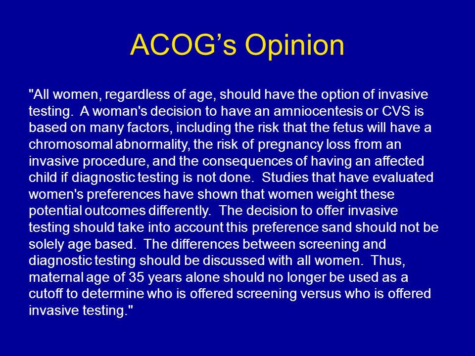 ACOG's Opinion