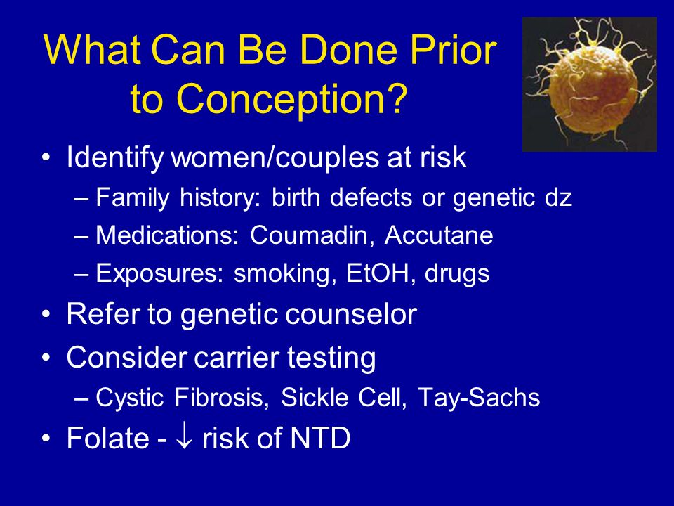 What Can Be Done Prior to Conception