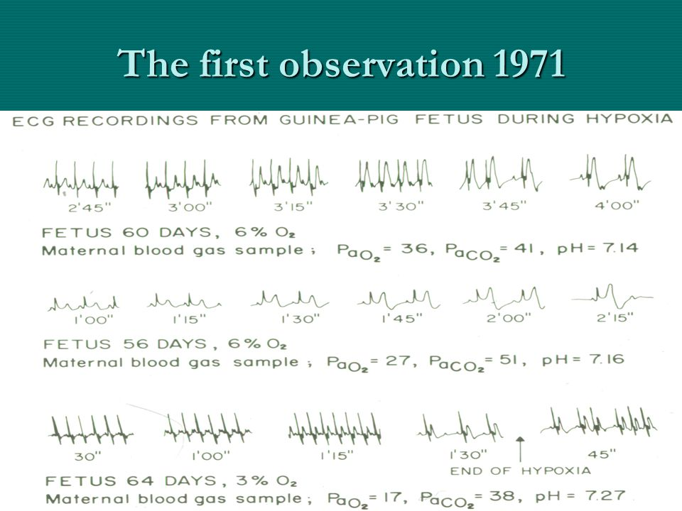 The first observation 1971