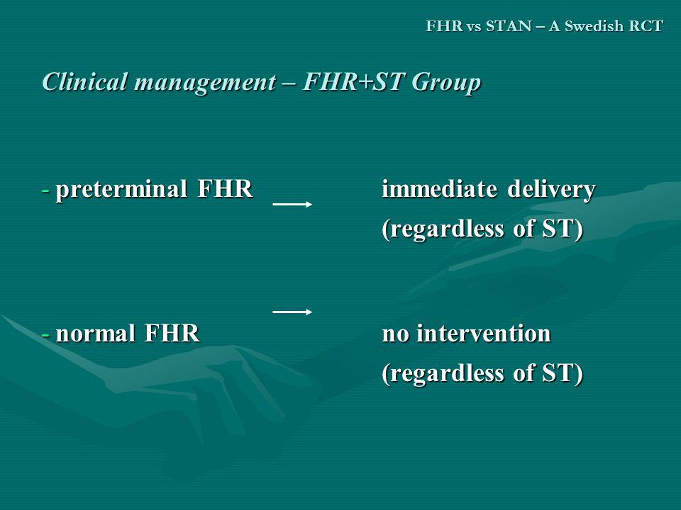 FHR vs STAN – A Swedish RCT
