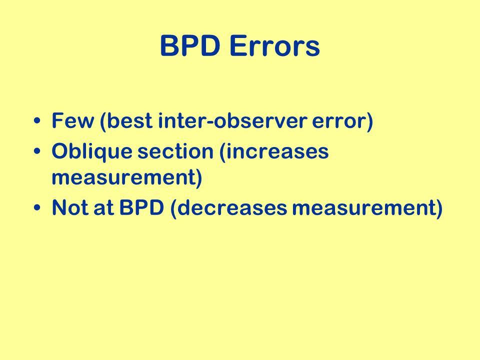 BPD Errors Few (best inter-observer error)