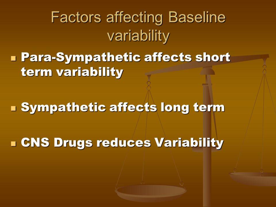 Factors affecting Baseline variability
