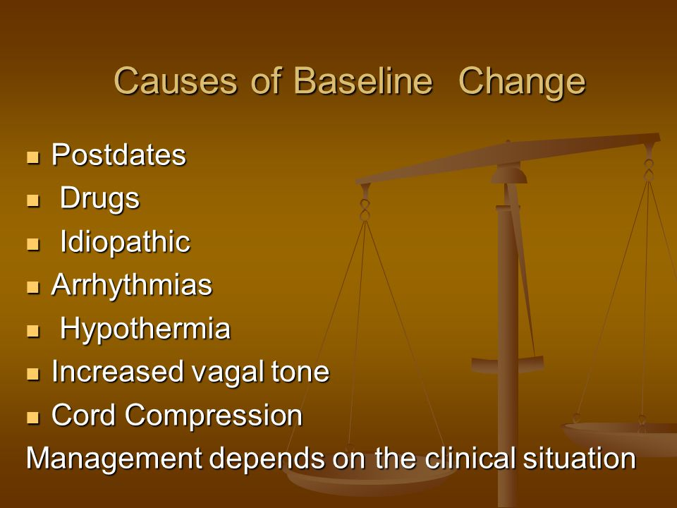 Causes of Baseline Change