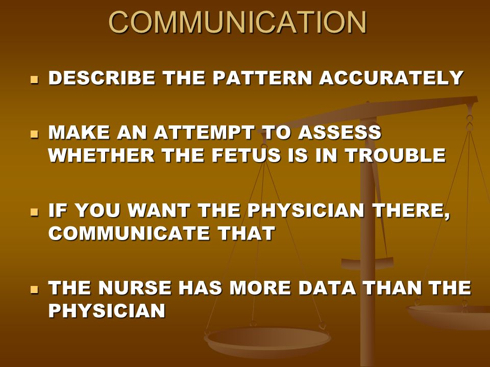 COMMUNICATION DESCRIBE THE PATTERN ACCURATELY
