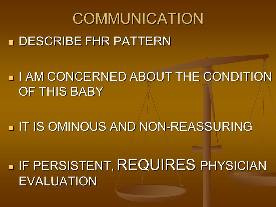 COMMUNICATION DESCRIBE FHR PATTERN