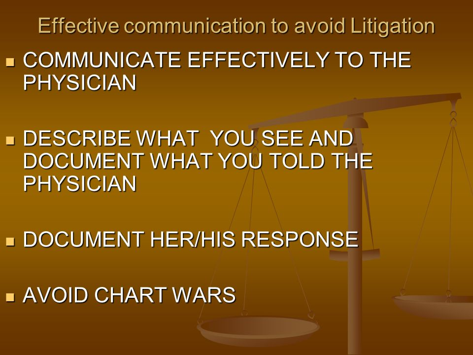 Effective communication to avoid Litigation
