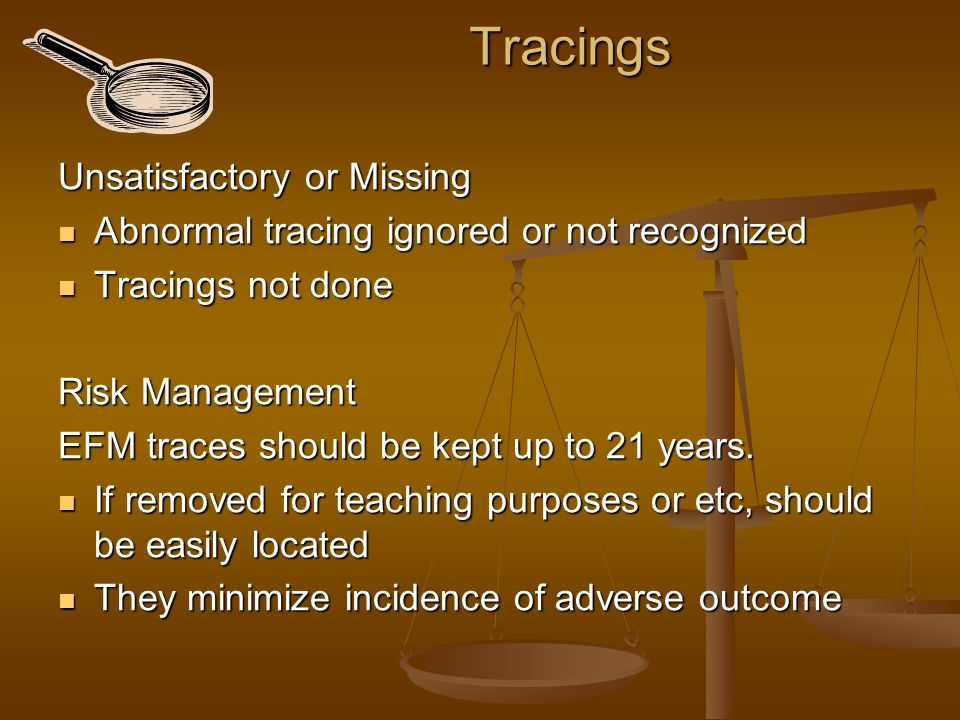Tracings Unsatisfactory or Missing