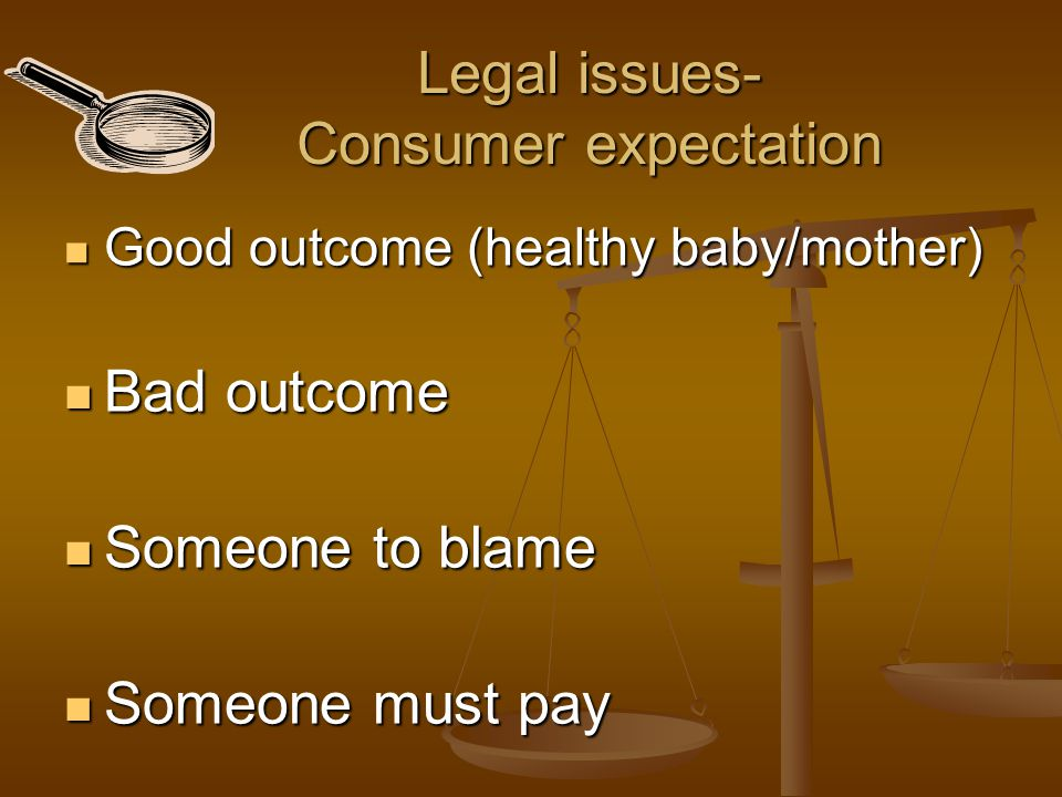 Legal issues- Consumer expectation