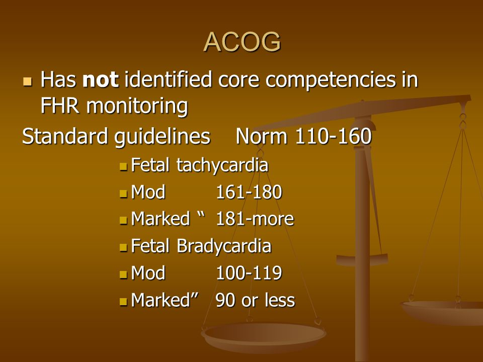 ACOG Has not identified core competencies in FHR monitoring