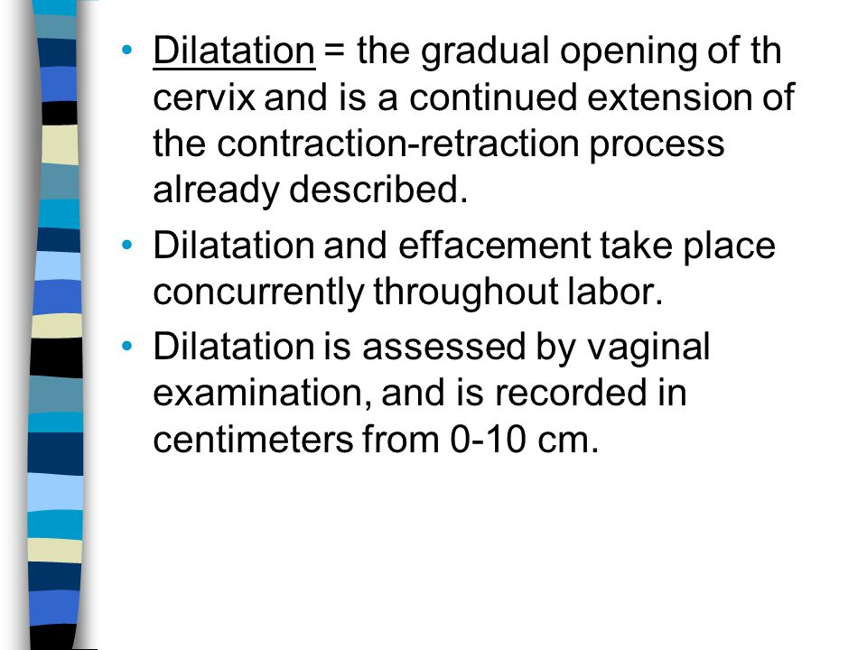 Dilatation and effacement take place concurrently throughout labor.