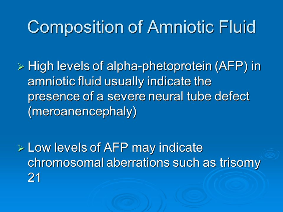 Composition of Amniotic Fluid