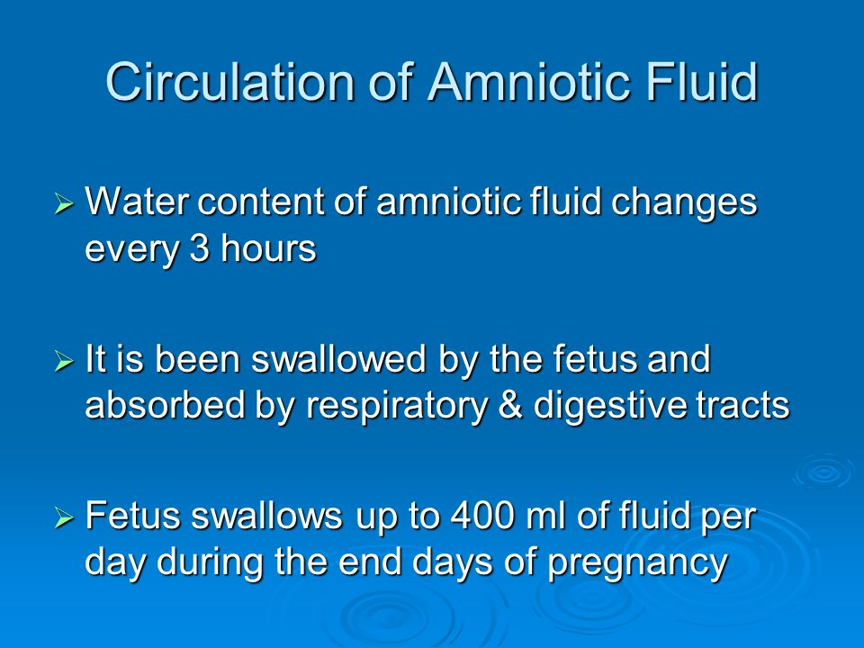 Circulation of Amniotic Fluid