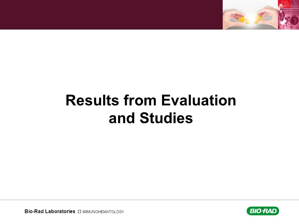 Results from Evaluation and Studies