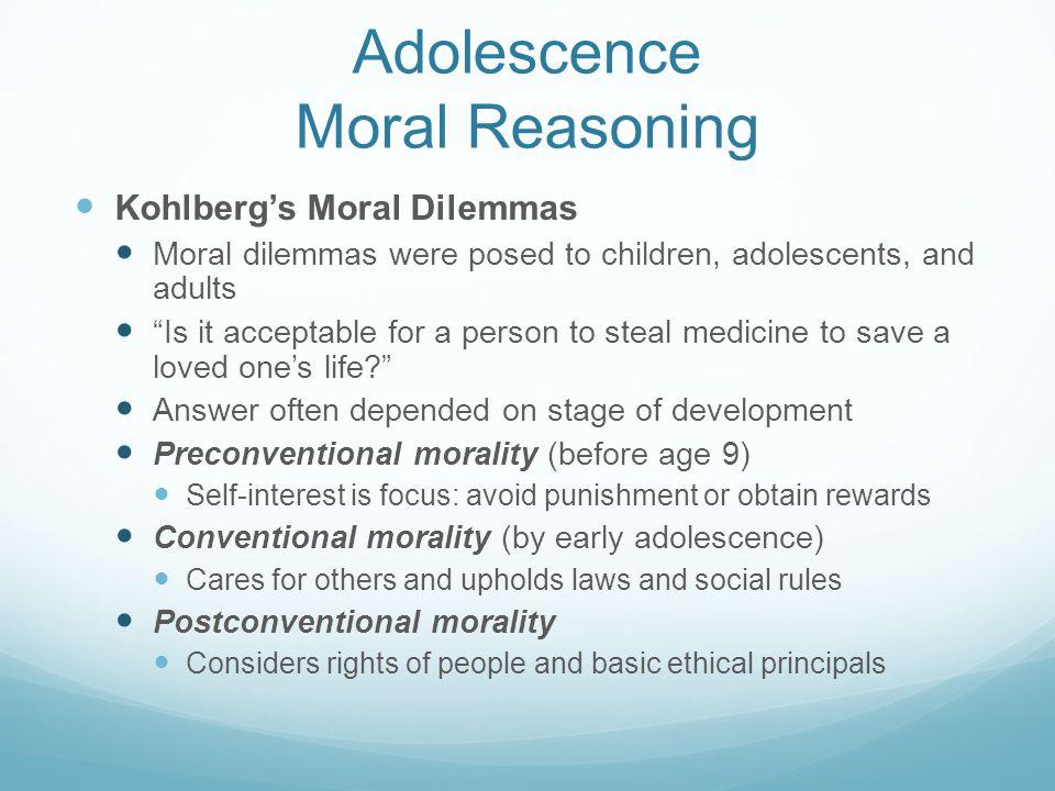 Adolescence Moral Reasoning