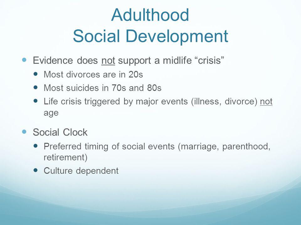 Adulthood Social Development