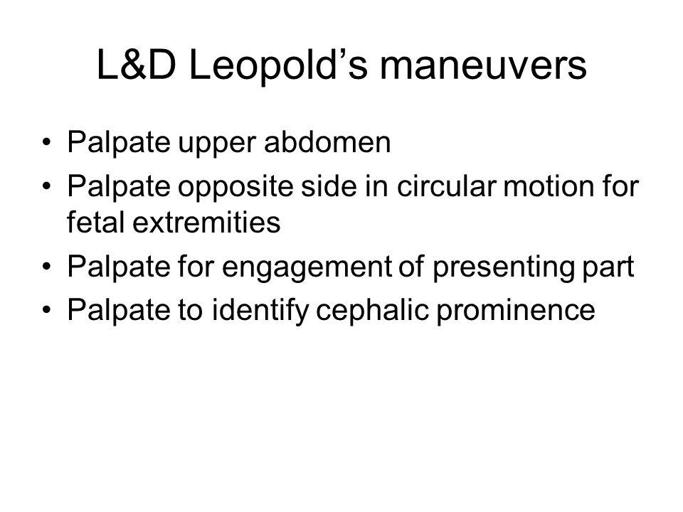 L&D Leopold's maneuvers