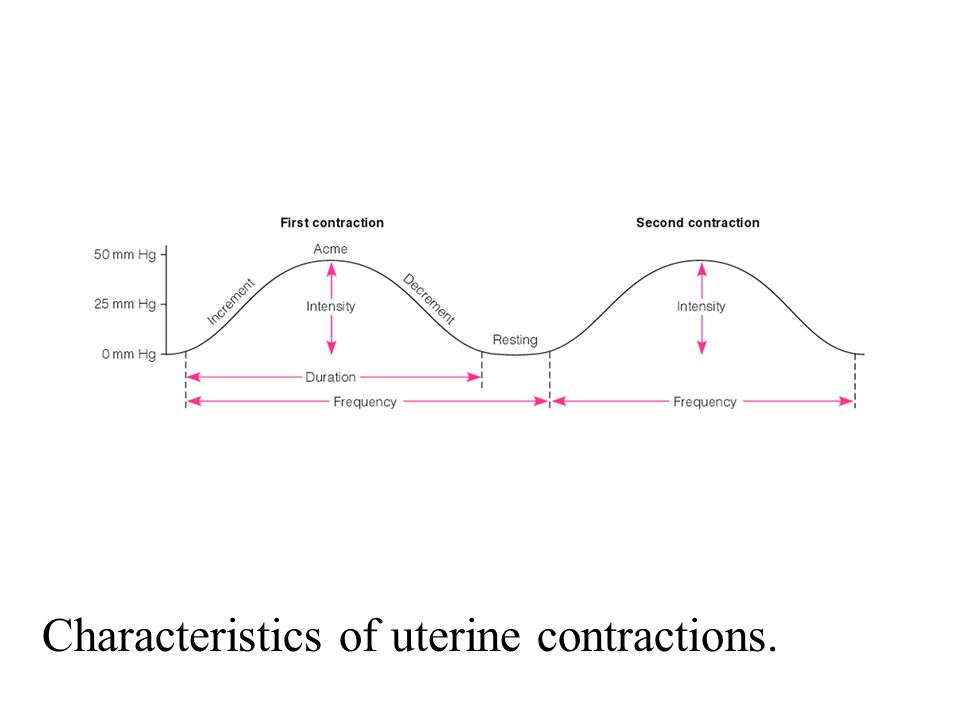 Characteristics of uterine contractions.