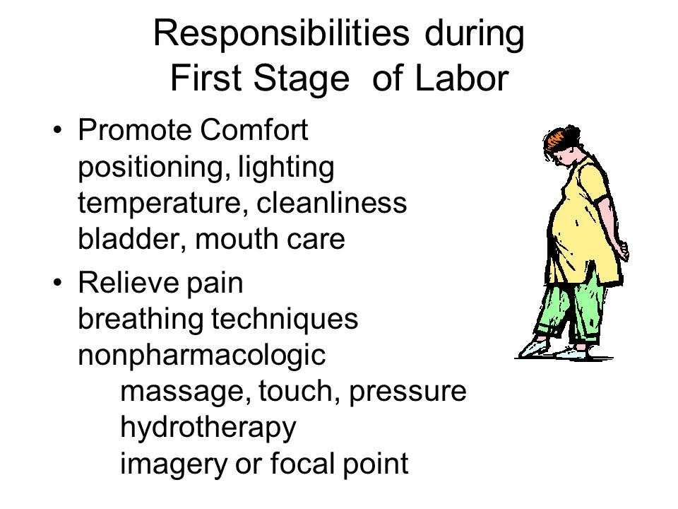 Responsibilities during First Stage of Labor