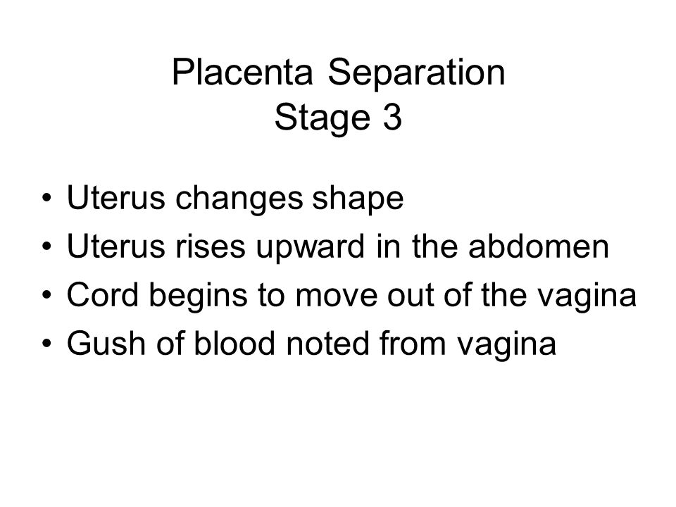 Placenta Separation Stage 3