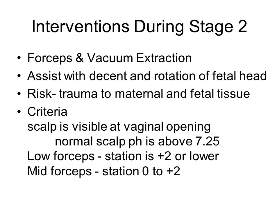 Interventions During Stage 2