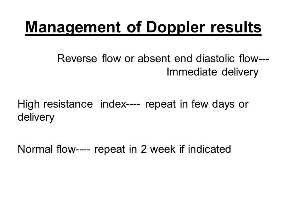 Management of Doppler results
