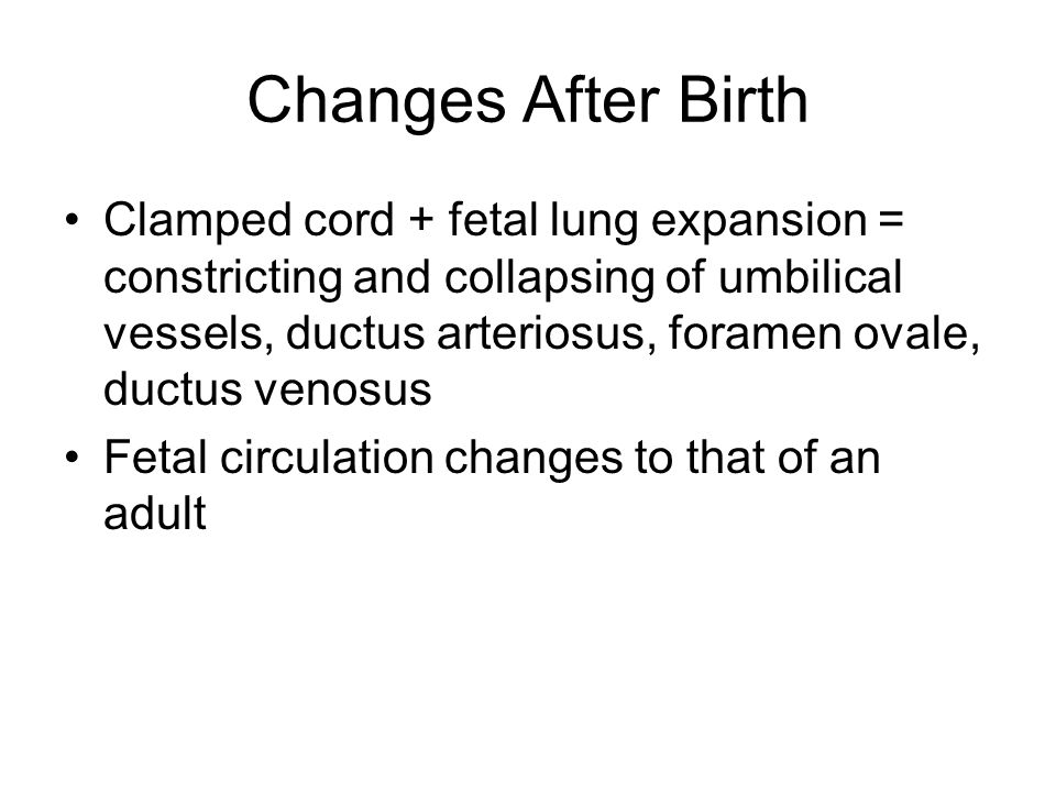 Changes After Birth