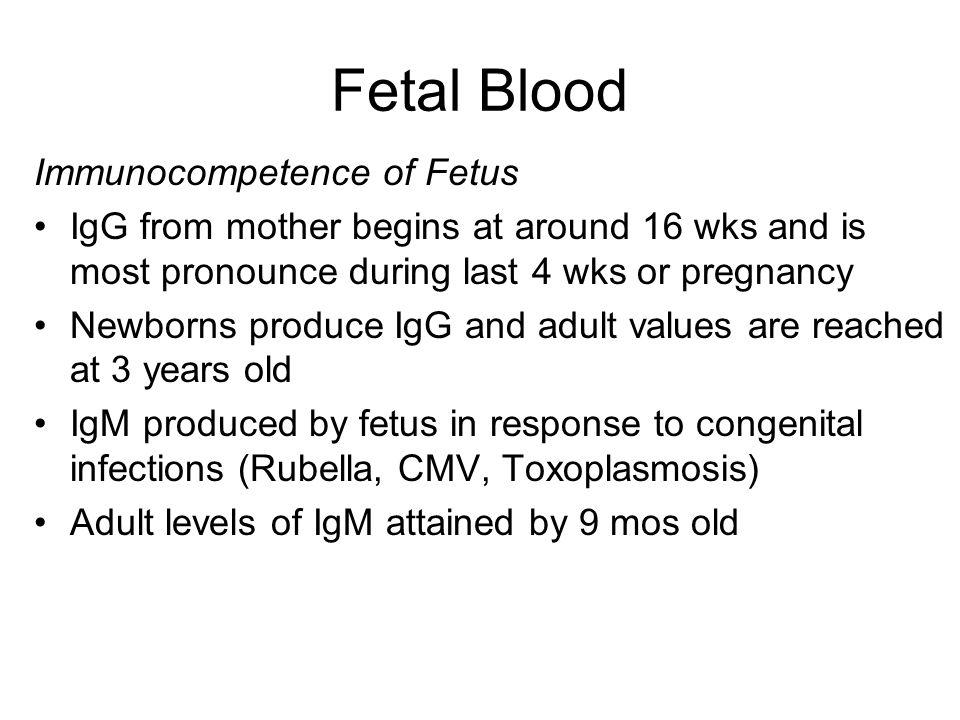 Fetal Blood Immunocompetence of Fetus