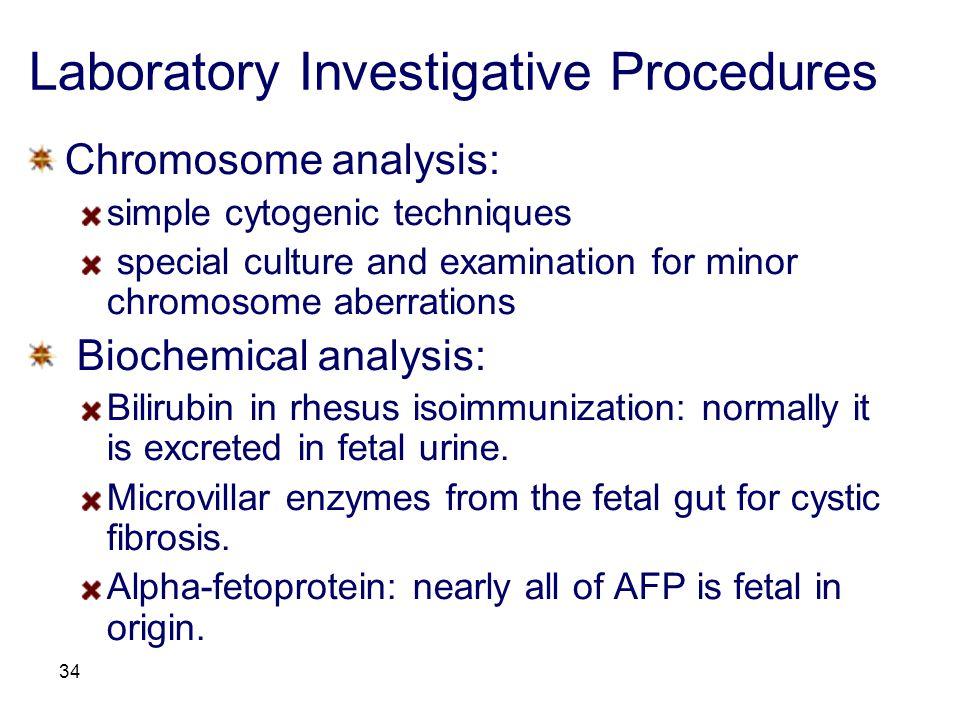 Laboratory Investigative Procedures