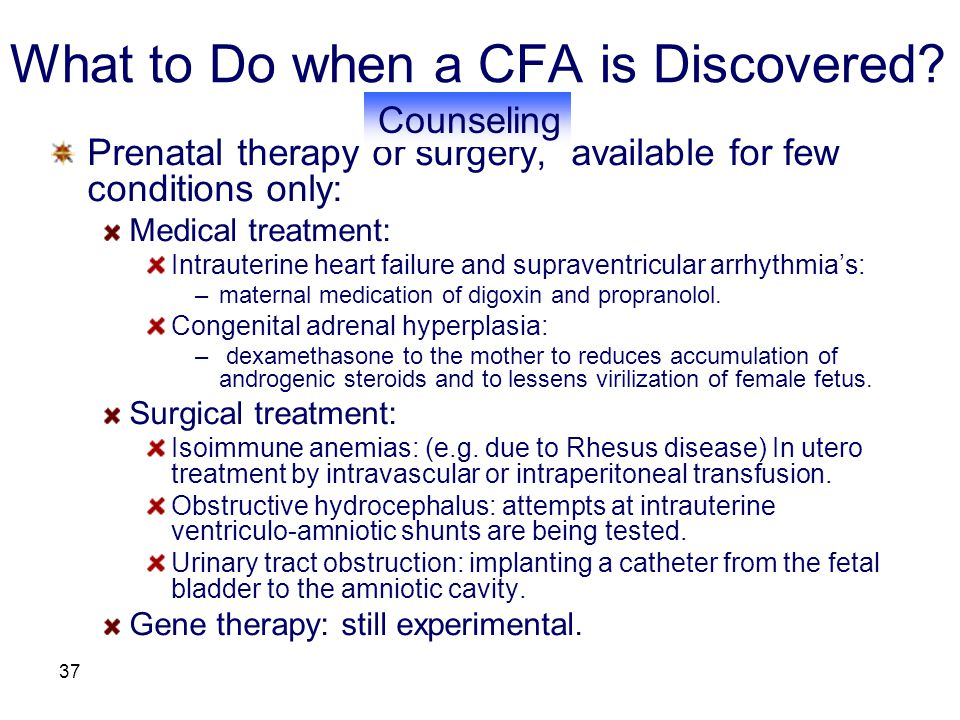 What to Do when a CFA is Discovered