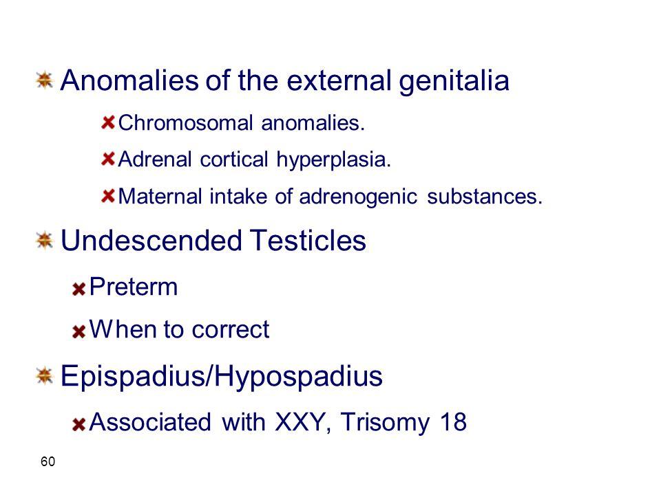 Anomalies of the external genitalia