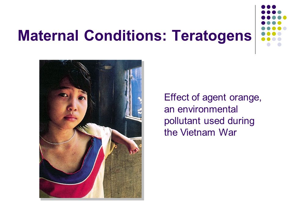 Maternal Conditions: Teratogens