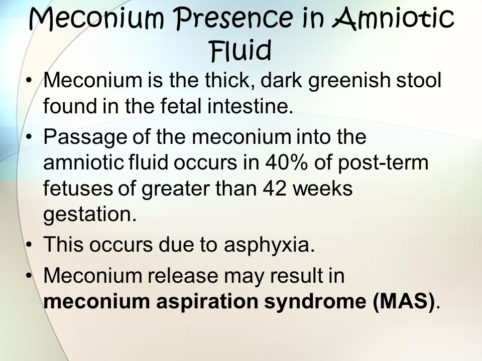 Meconium Presence in Amniotic Fluid