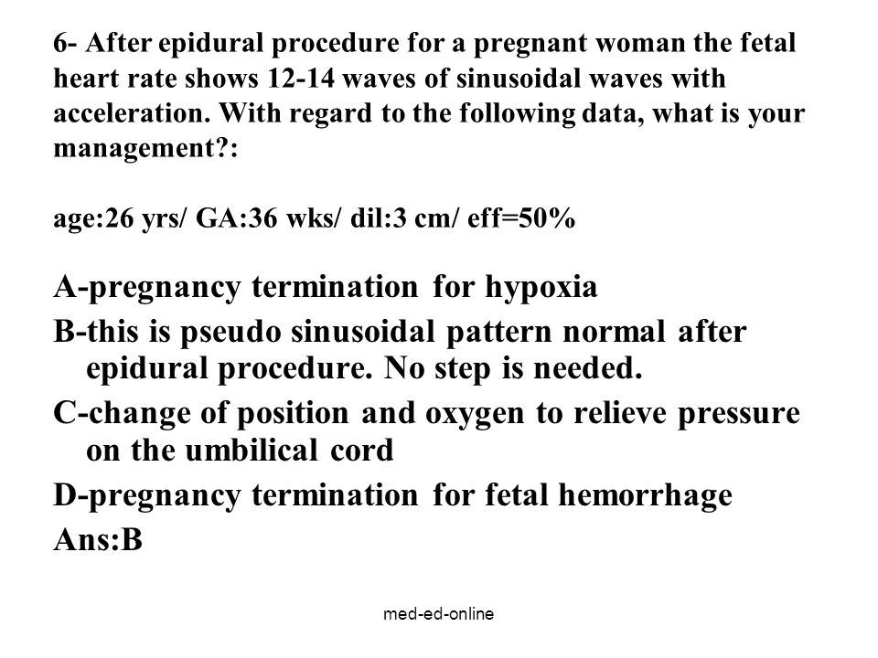 A-pregnancy termination for hypoxia
