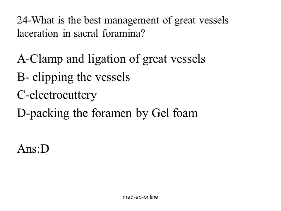 A-Clamp and ligation of great vessels B- clipping the vessels