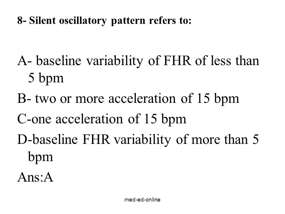 8- Silent oscillatory pattern refers to: