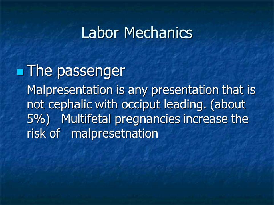 Labor Mechanics The passenger