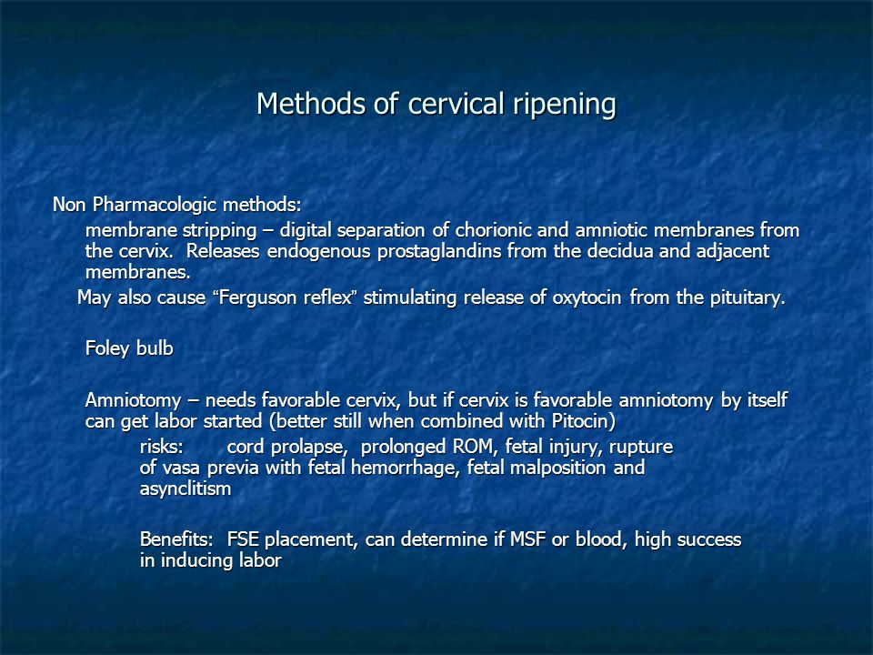 Methods of cervical ripening