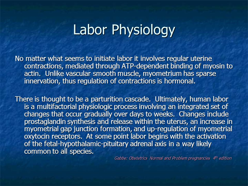 Labor Physiology