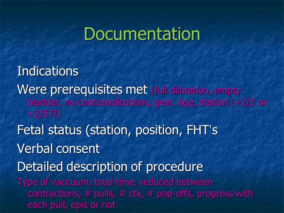 Documentation Indications