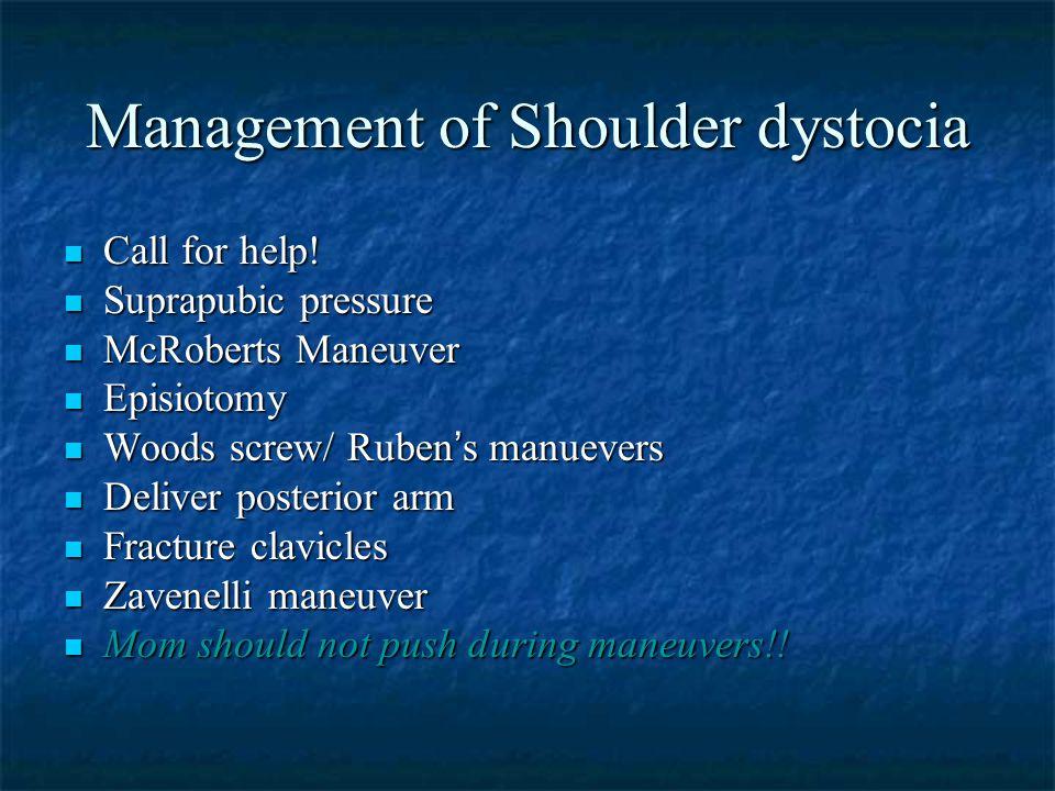 Management of Shoulder dystocia