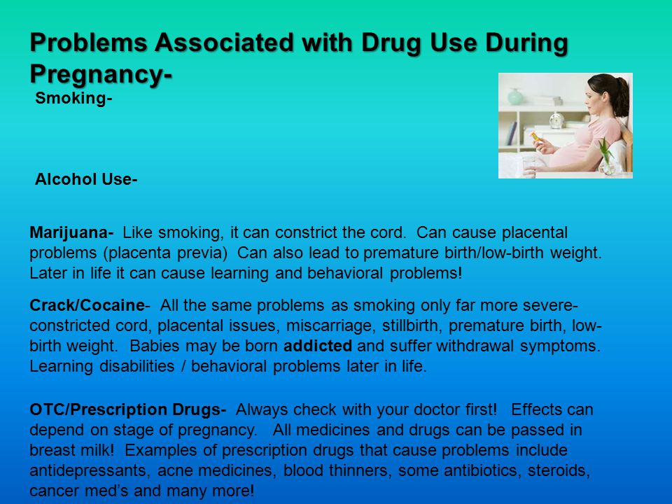 Problems Associated with Drug Use During Pregnancy-